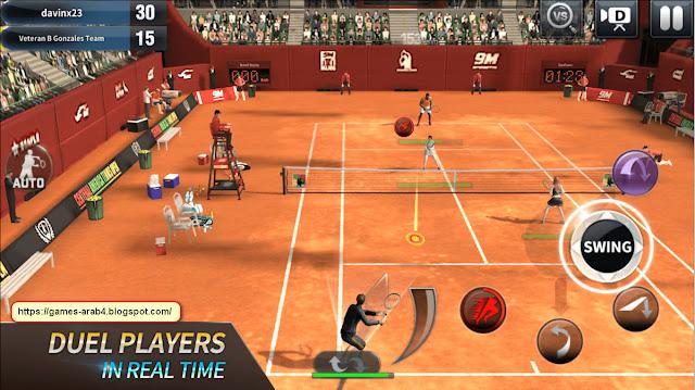 تحميل لعبة تنس Tennis الإصدار الأخير مجانا للكمبيوتر والموبايل الاندرويد Download virtua tennis game