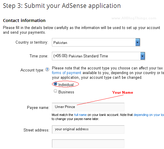 submit your application to Google Adsense approval department