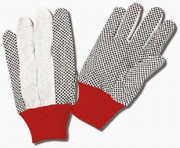 COTTON GLOVES - POLKA DOT GLOVES