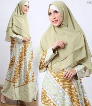 baju batik muslim lebaran