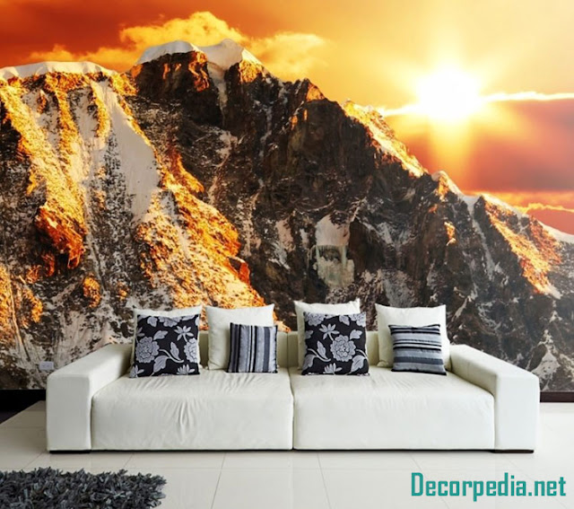 New 3D wallpaper murals and designs for living room 2019