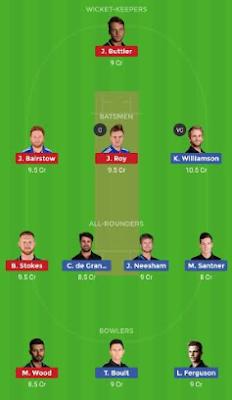 NZ vs ENG Dream 11 Team   NZ vs ENG