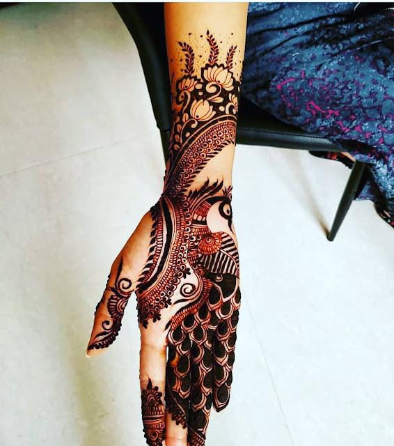 simple arabic mehndi designs for back hands