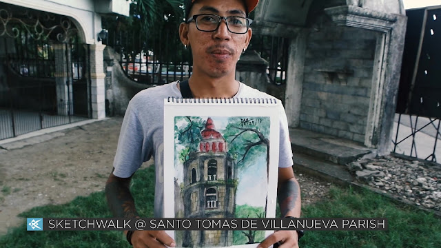 Sketchwalk Santo Tomas de Villanueva Parish by USKCebu