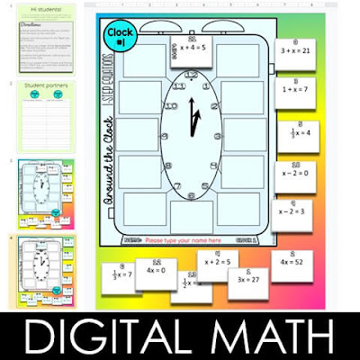 Interactive digital math activities