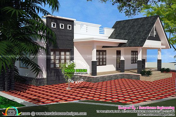 Kerala traditional single floor home 2378 sq-ft