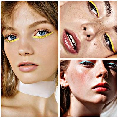 Delineador a color - Últimas tendencias de moda y belleza 2019