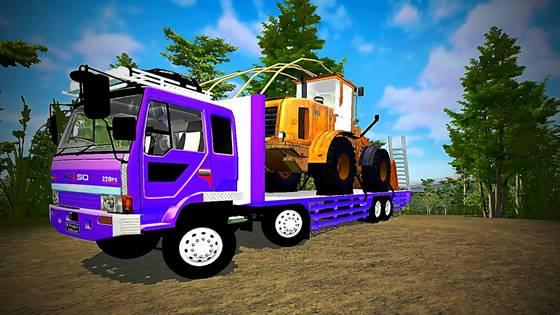 mod truck fuso trinton bussid bulldozer