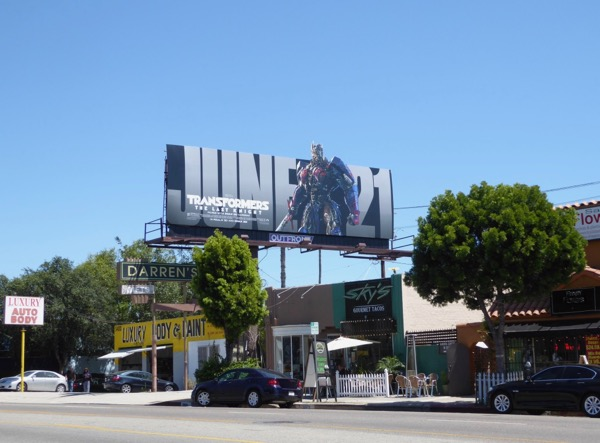 Transformers Last Knight film billboard