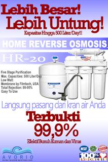 Reverses Osmosis RO Rumah Tangga