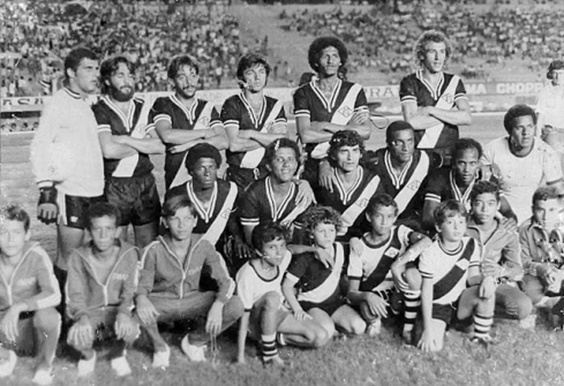 Ernane, Luiz Carlos Beleza, Jorge Macedo, Miro, Remo, Arildo, Fabinho, Gonçalves (Marcinho), Bife, Pelezinho e Toninho Campos