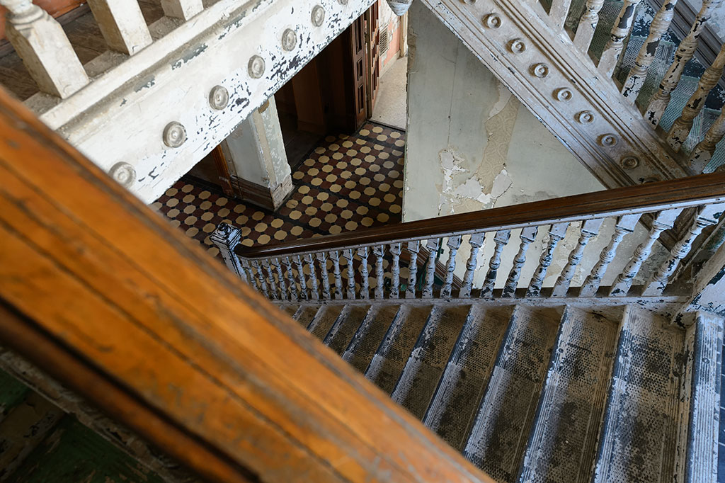 Stairs in the warden's quarters - Mansfield Reformatory