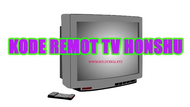Kode Remot tv honshu