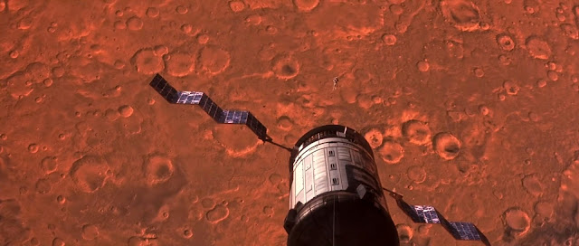 Martian lander in Mars orbit - Mission to Mars movie image