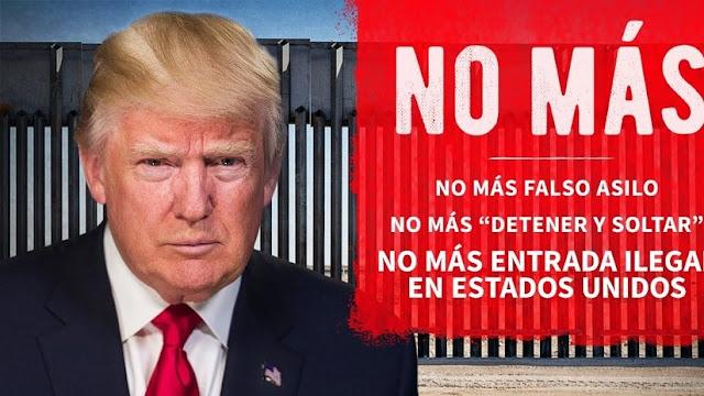 """Trump tuitea en español para arremeter contra los migrantes: """"no más entrada ilegal a EE.UU."""""""