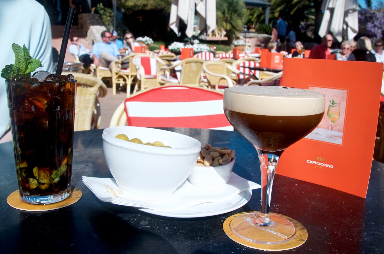 cocktails at Cappuccino in Puerto Portals