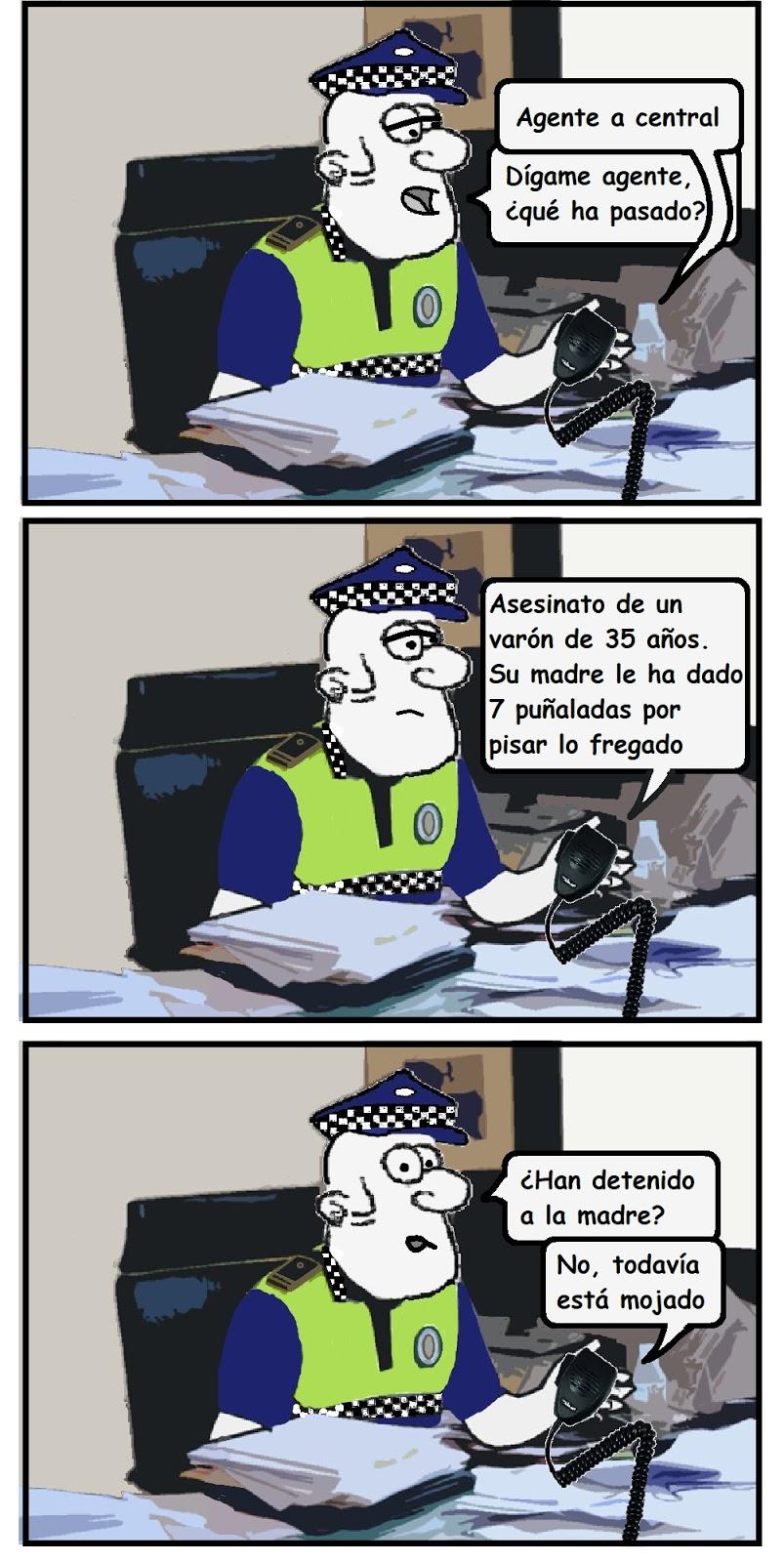 chiste de madres; chiste de polis