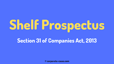shelf prospectus in company law