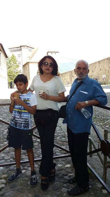 Ramya Krishnan with son and father