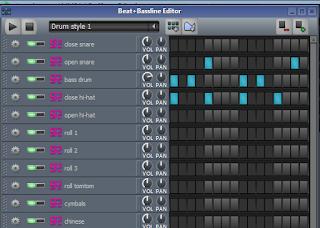 Beat + Bassline Editor
