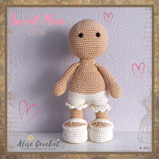 Куколка Sweet Noa Marrot Design вязаная крючком
