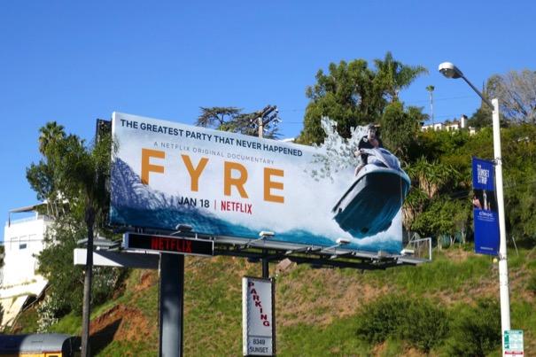 Fyre Netflix billboard