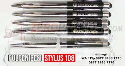 pen besi / pulpen besi 108 BB STYLUS, Souvenir Pulpen 108 Metal Stylus, Ballpoint Lux Stylus 108, Pulpen Besi Promosi BP 108
