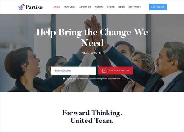 Partiso Best Political WordPress Themes 2020
