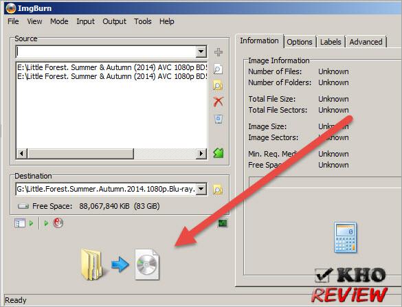Download phần mềm ImgBurn - Công cụ tạo file ISO cho Blu-ray