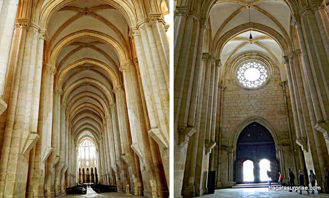 Detalhes do Interior da Igreja do mosteiro de Alcobaça