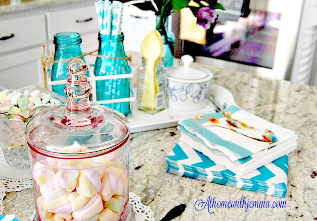 Kitchen- candy dishes-French Country-milk bottles-recipes-athomewithjemma