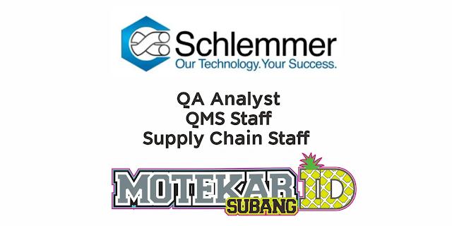 Info Lowongan Kerja PT Schlemmer Automotive Indonesia Maret 2021 - Motekar Subang