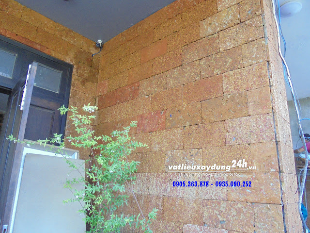 Đá ong đỏ 15x30 ốp tường trang trí