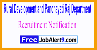 RDPD Rural Development and Panchayati Raj Department Recruitment Notification 2017 Last Date 14-06-2017