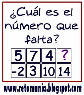 Cuadrados mágicos, Descubre el número, El número que falta, Retos para pensar, Problemas matemáticos, Retos matemáticos, Desafíos matemáticos, Retos de lógica, Problemas para pensar, Sólo para genios, Piensa rápido