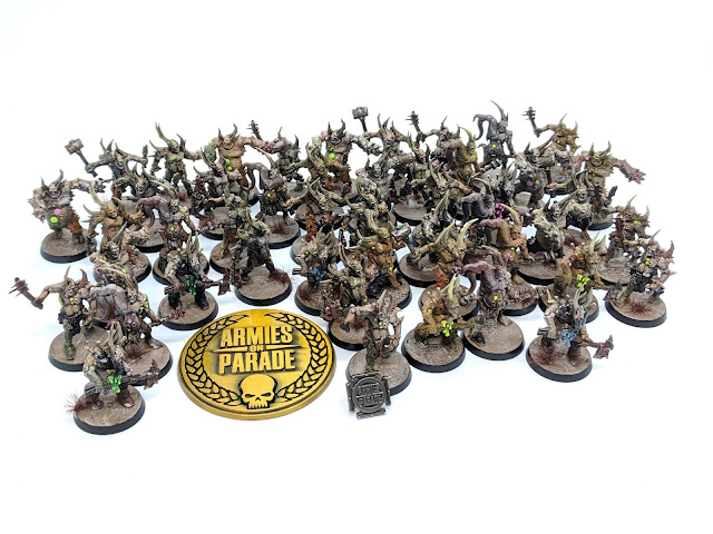 Example of a lot of Poxwalkers painted up.