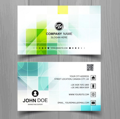 Template Kartu nama - Modern Business Card Squares