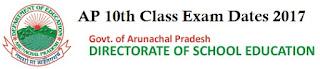 Arunachal Pradesh Class X Date Sheet 2017