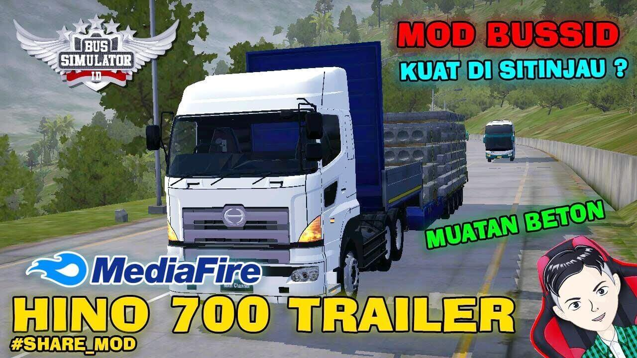 Mod Bussid Hino 700 Trailer Truck