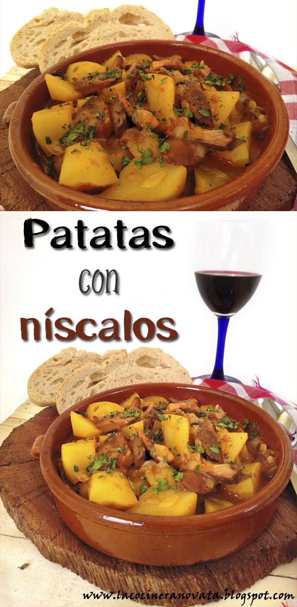Patatas con niscalos la cocinera novata receta cocina casera guiso vegano vegetarian comfortfood sin gluten