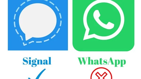 Not available in WhatsApp .. 11 Signal features to protect your privacy