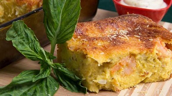 Torta De Maiz Con Camarones