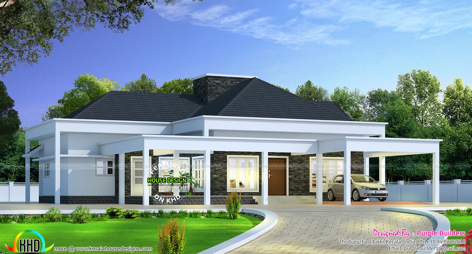 Bungalow plan in 2790 square feet kerala home design and for House photos and plans