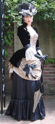 The steampunk bustle dress created the big butt look popular during a period of the victorian era