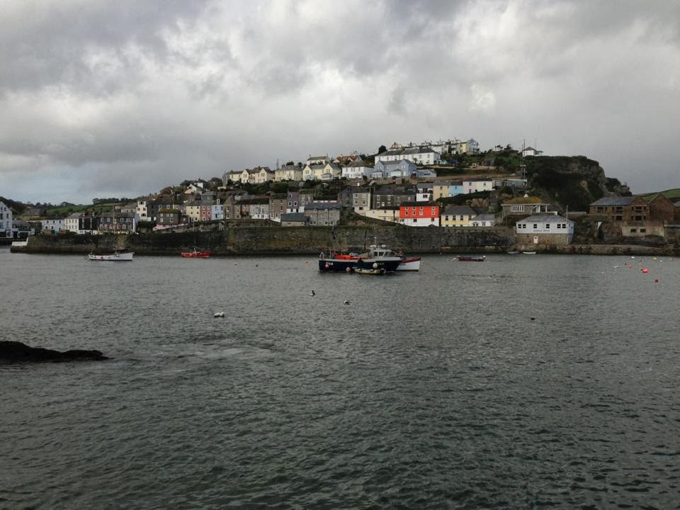 View of mevagissey from across the Harbour