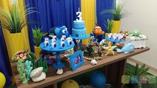 Decoração de festa infantil Procurando Dory em Porto Alegre