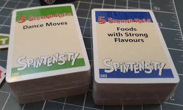 Spintensity 5 Second Rule game card examples