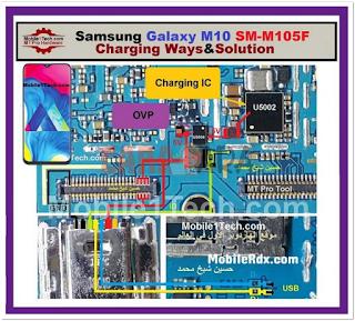 Jumper Jalur Charger dan USB Samsung Galaxy M10 M105F