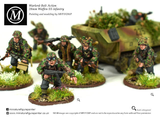 Warlord Bolt Action 28mm Waffen SS Inf painted by Miniature Figure Painter