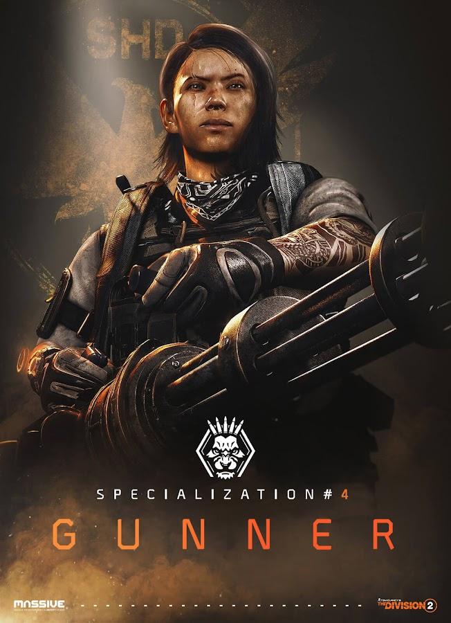 ubisoft division 2 division 2 gunner poster minigun banshee riot foam